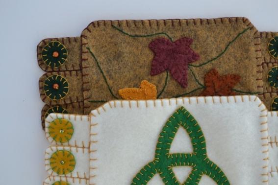 Trinity Knot, Autumn Leaves $12